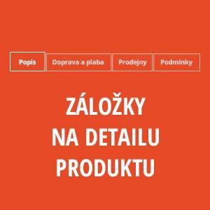 Záložky na detailu produktu